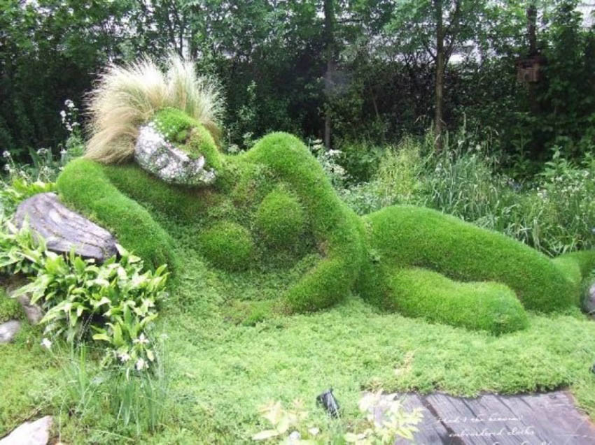 One of the Sculptures in the Garden of Heligan