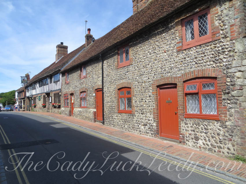 The Orange Doors in Alfriston, UK